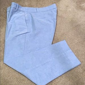 Jcrew chambray crop pants